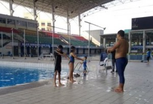My Son During Swimming Session